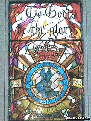 201 Squadron stained glass window