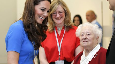 Duchess of Cambridge and Diana Gould
