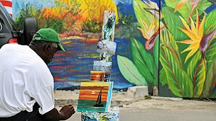 Painter in Bahamas