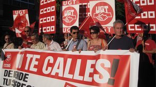 Demonstration in Cuidad Real against cuts