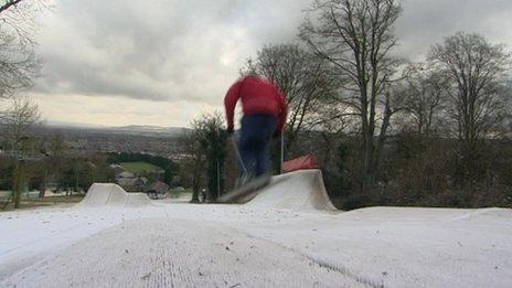 Skier at Gloucester Ski Centre