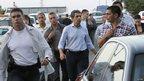 Bulgarian President Rosen Plevneliev visit the scene