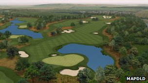 Artist's rendition of the course