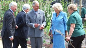 The Prince of Wales and Duchess of Cornwall in Guernsey