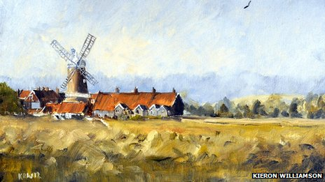 Cley Mill from the Marshes by Kieron Williamson