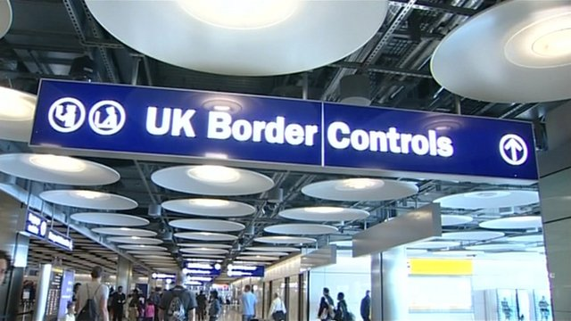 Terminal 5 UK Border Control