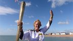 Torchbearer Katherine Batts, Deal Pier