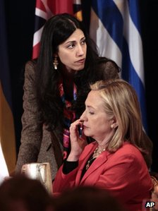 Huma Abedin in a 20 September 2011 file photo
