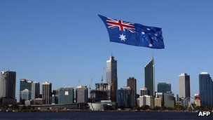 File photo: Australian flag