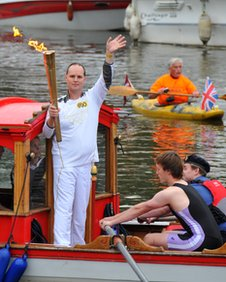 The torch on the River Medway