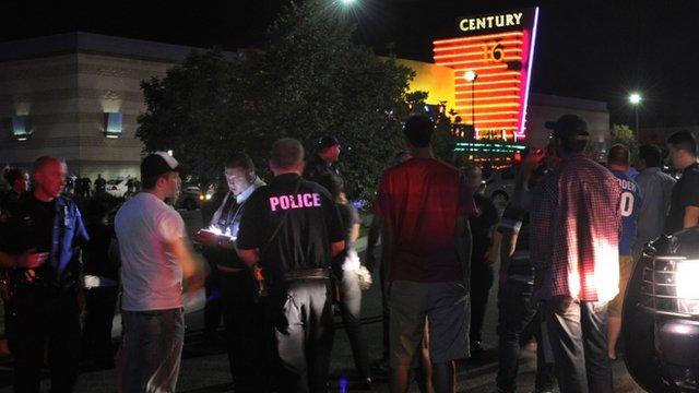 Police outside Denver cinema