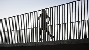 running on a bridge