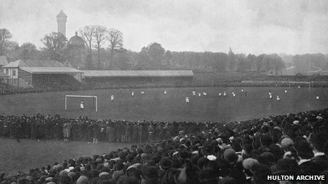 Cup final in late 19th Century