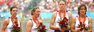 Annie Vernon, Debbie Flood, Frances Houghton and Katherine Grainger win silver in Beijing