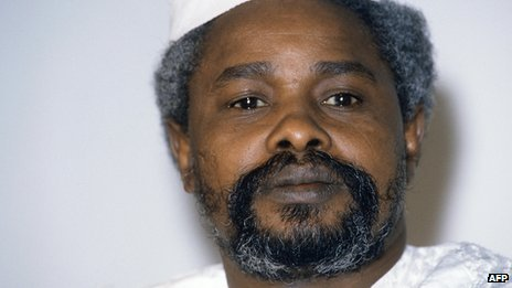 Chad's then-President Hissene Habre, in 1987