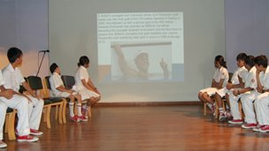 The Sagar School students in their inspiration assembly