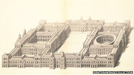 Inigo Jones' plan of Whitehall Palace
