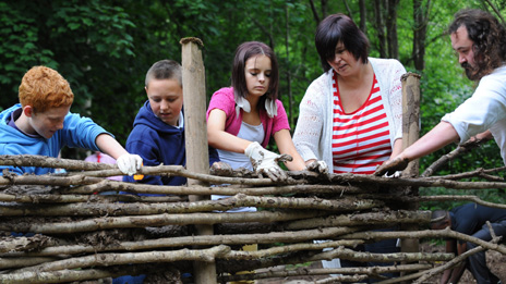Helpers at St Fagans