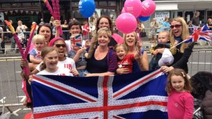 Reigate waits for the torch