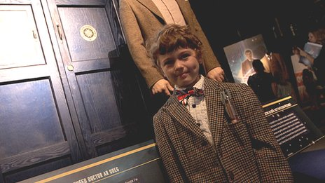 A young Time Lord dressed in true Who style - complete with sonic screwdriver was one of the opening day visitors
