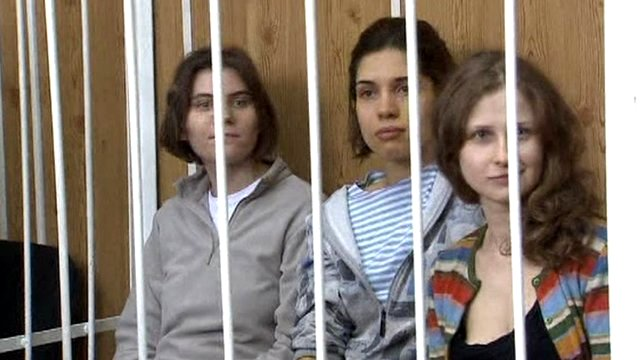 Three member of Pussy Riot in court