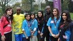 Students from Bedford Academy pose with Shadrack Kosgei and Philip Langat.  The two Kenyan athletes helped to set the pace for the elite male runners in the London Marathon, before heading to Bedford to take part in the 'Run with the Kenyans' project.  The run was a reward for students who had managed the full marathon distance of 26.2 miles themselves, by running in increments over the previous weeks.  We think it's probably fair to say the Kenyans appreciated the slower pace!