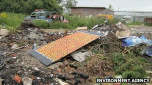 Waste dumped at Walberton