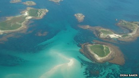 Aerial photograph of the Isles of Scilly