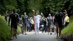 The first torchbearer of the day was Christopher Bury