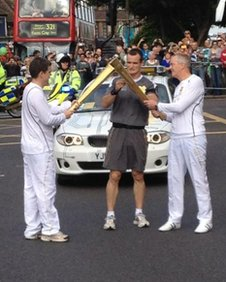 Torch 'kiss' on Eltham High Street
