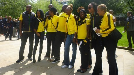 Members of the Jamaican team