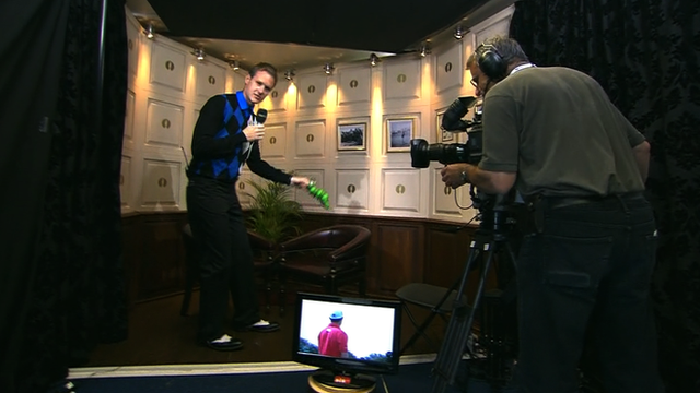 Dan Walker goes behind the scenes at Royal Lytham and St Annes to find out exactly what golfers do once they have finished their rounds