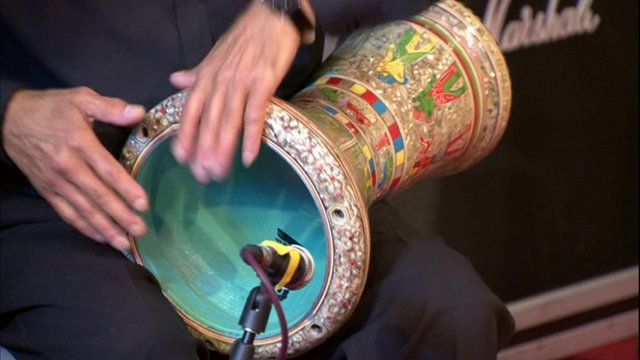 Traditional drum playing