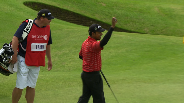 Lahiri hits hole-in-one at the ninth