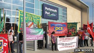 Condor Ferries protest