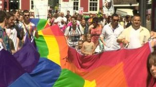 York Gay Pride march