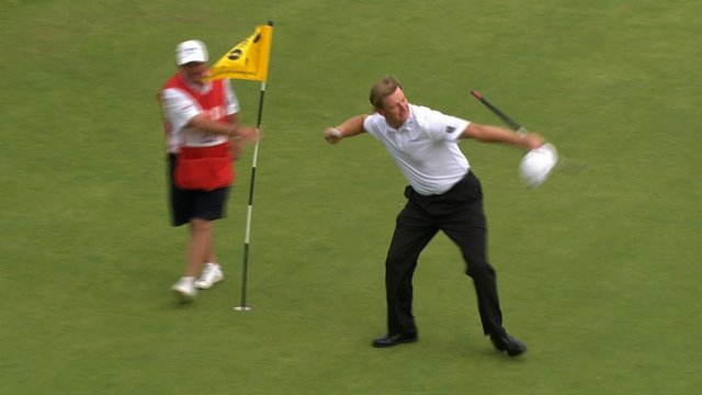 Ernie Els wins the 2012 Open