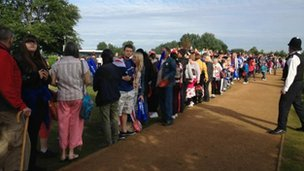 Crowds at Fairlop Waters