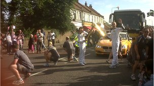 Torch &#039;kiss&#039; on the Cranbrook Road