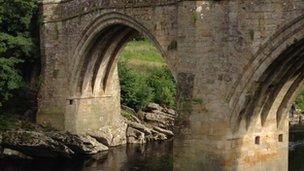 Devil's Bridge in Kirkby Lonsdale