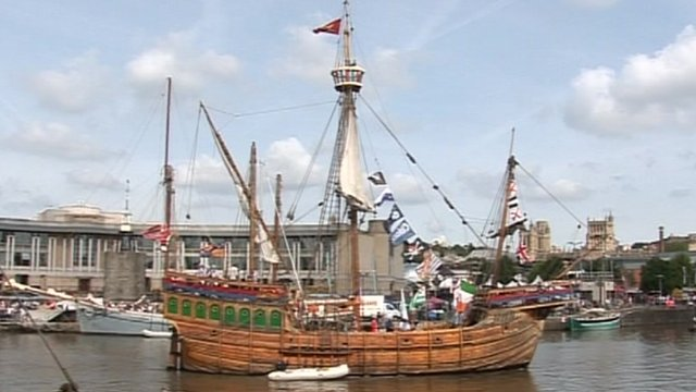Tall ship at Bristol Harbour Festival