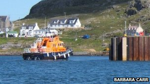 Lifeboat in Castlebay - pic by Barbara Carr/ Geograph