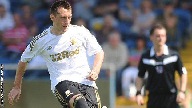 Swansea City striker Stephen Dobbie