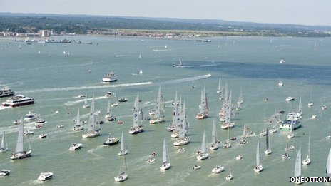 Arrival of Clipper Race into Southampton
