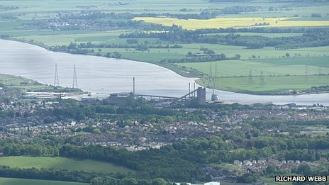 Alloa and the Forth - pic by Richard Webb/ Geograph