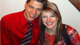 Jon Blunk (L) and girlfriend Jansen Young
