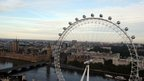 Amelia Hempleman-Adams carried the flame while standing on top of a London Eye pod