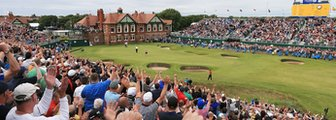 The 18th hole at Royal Lytham & St Annes