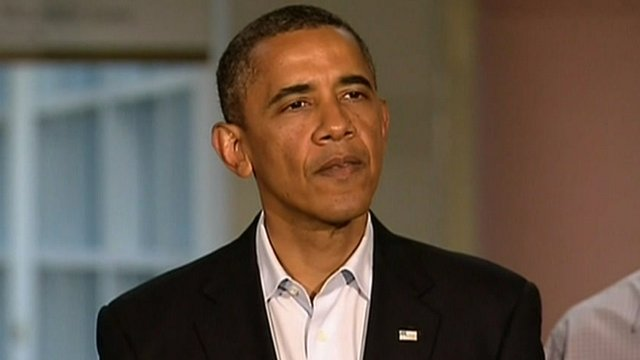 Obama announces that all US stands with victims in Aurora shooting
