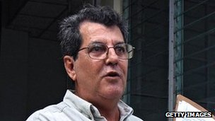 Cuban dissident Oswaldo Paya pictured in December 2007 while delivering to the National Assembly a letter requesting a general amnesty for political prisoners (file pic)